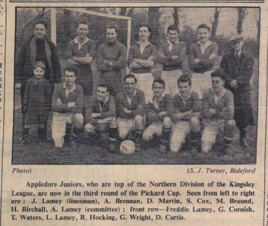 1954 Appeldore juniors football
