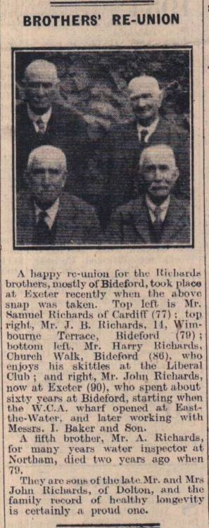 1947 Richards Brothers reunion
