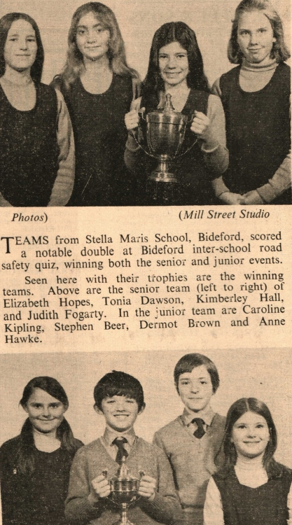 Stella Maris Convent Road Safety Quiz Champions 30 mar 1972