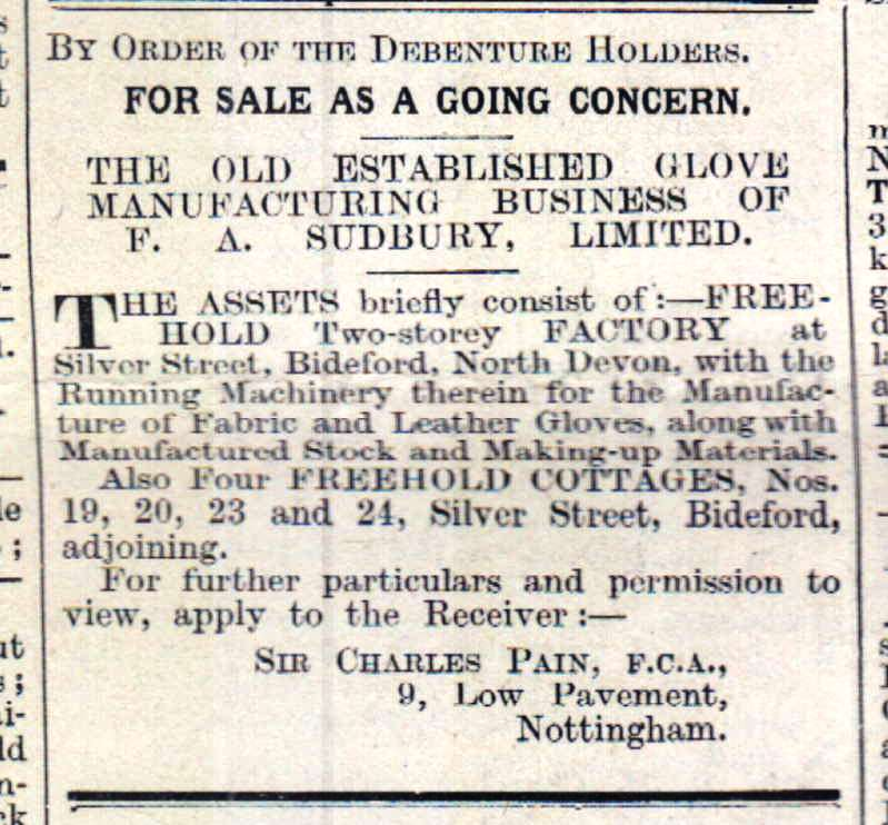 Sudbury Glove Factory for sale