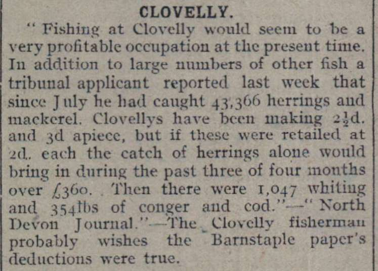 12.11.1918 Clovelly fishing