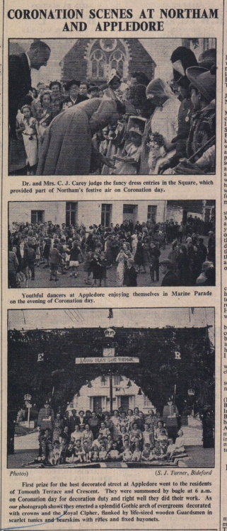 12.6.1953 Coronation scenes Northam and Appledore