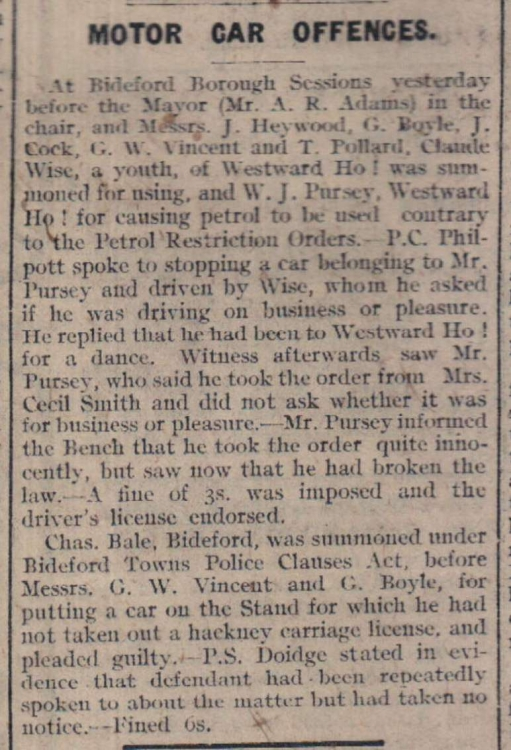 17.9.1918 offences