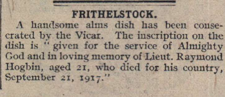 20.4.1918 Frithelstock