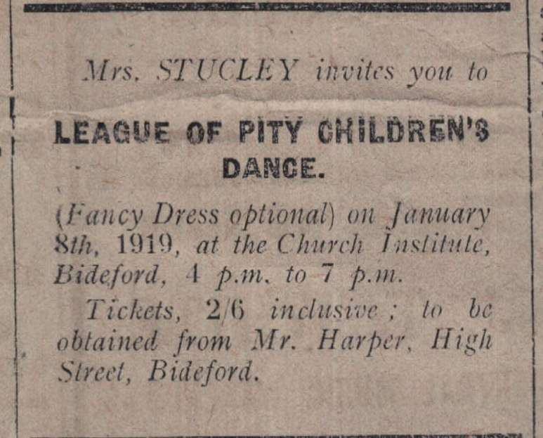 31.12.1918 Mrs Stucley