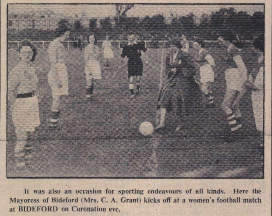 5.6.1953 Bideford Womens football