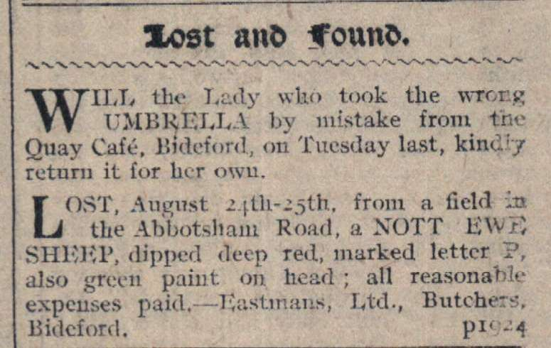 7.9.1918 lost and found