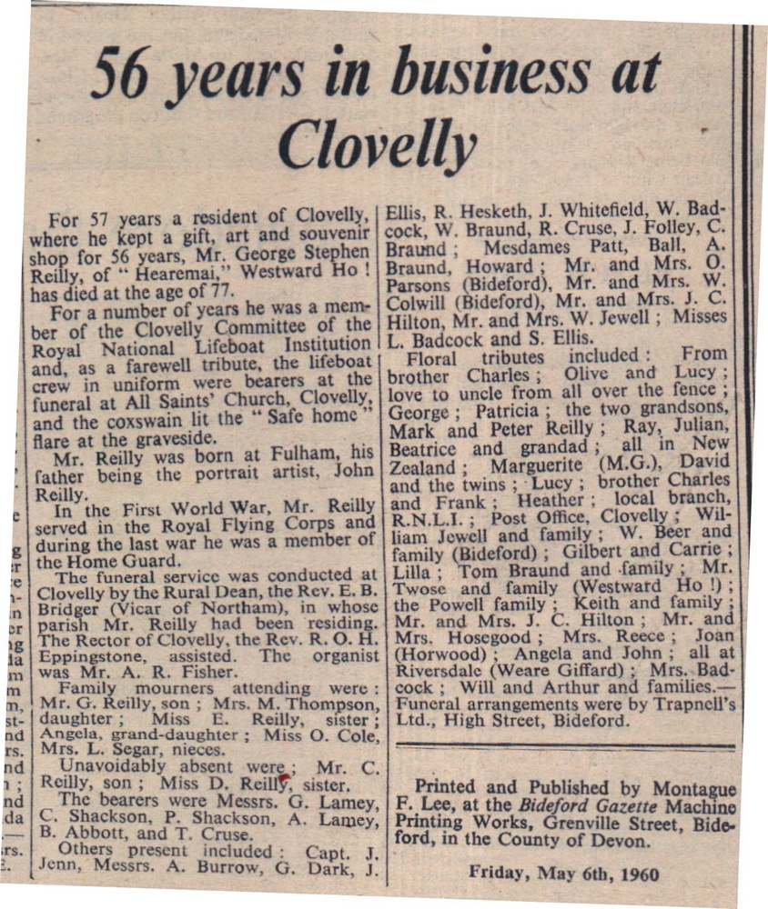 56 Years in Business at Clovelly