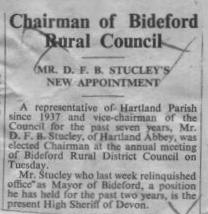 1 June1956 D F B Stucley, Hartland Abbey
