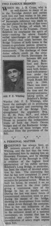 13 June 1952 Mr F E Whiting