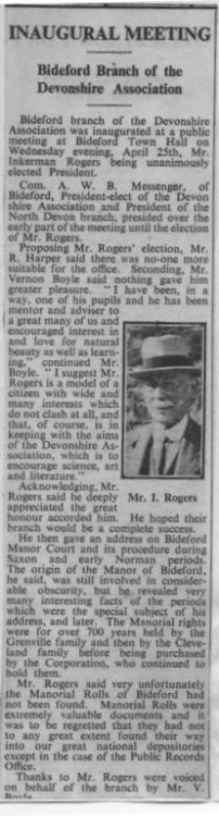 May 1951 Mr Inkerman Rogers