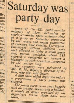 5.2.1960 Torrington Dairies childrens party1