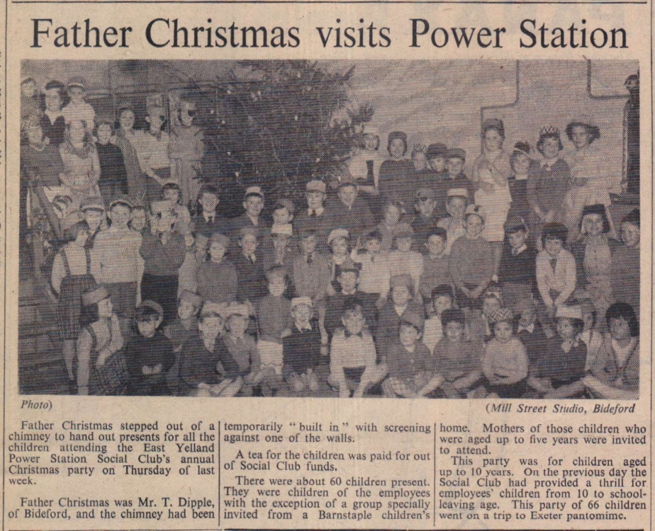 1958 Yelland Power Station Christmas