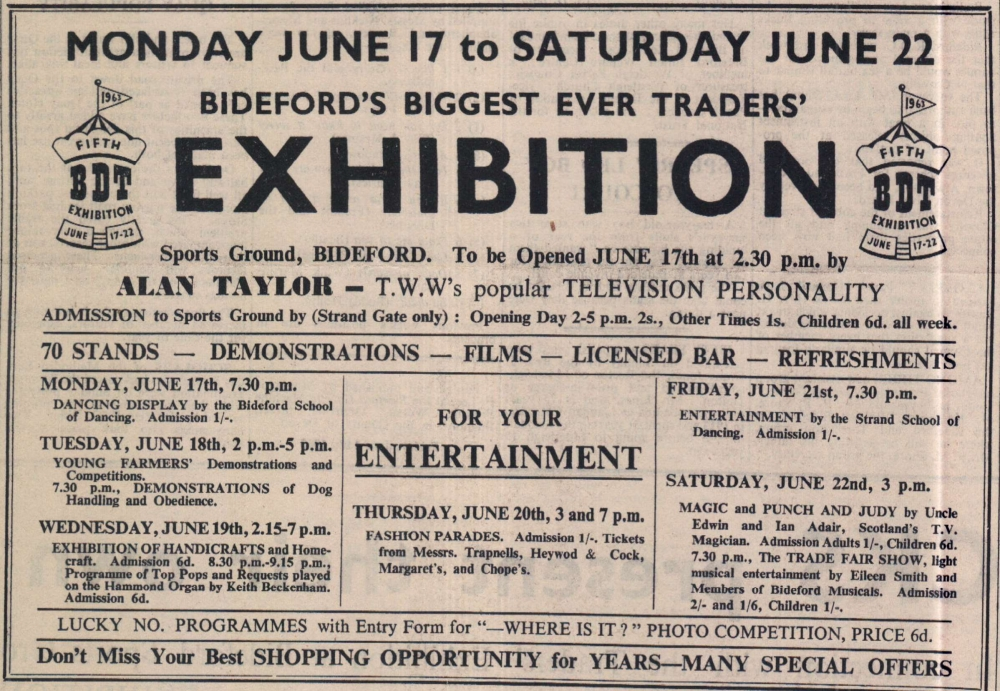 14.6.1963 Bideford Exhibition2