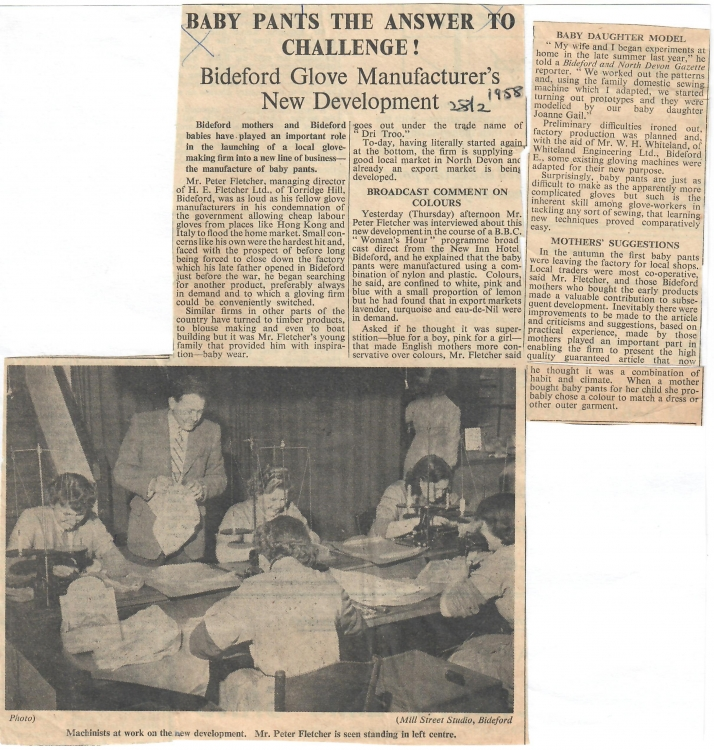 Baby Pants the Answer to Challenge 28 February 1958