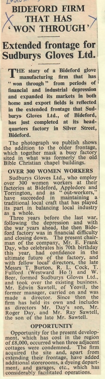 Bideford Firm That Has Won Through 5 August 1966