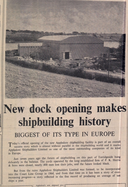 January 1970 Appledore Shipbuilders