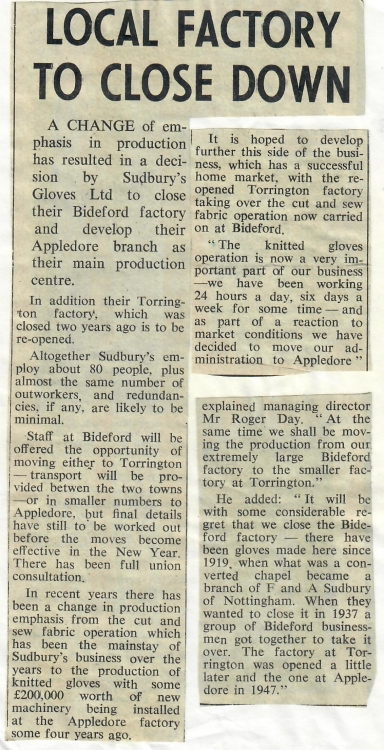 Local Factory to Close Down 11 December 1981