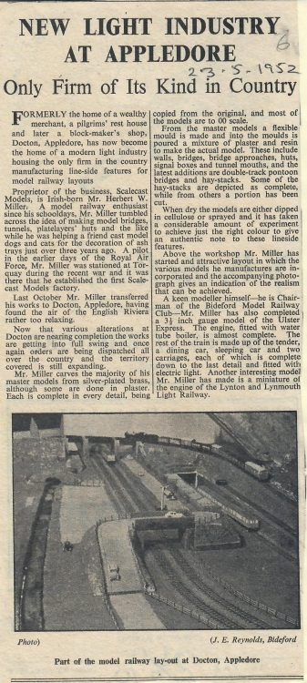 New Light Industry at Appledore 23.5.1952