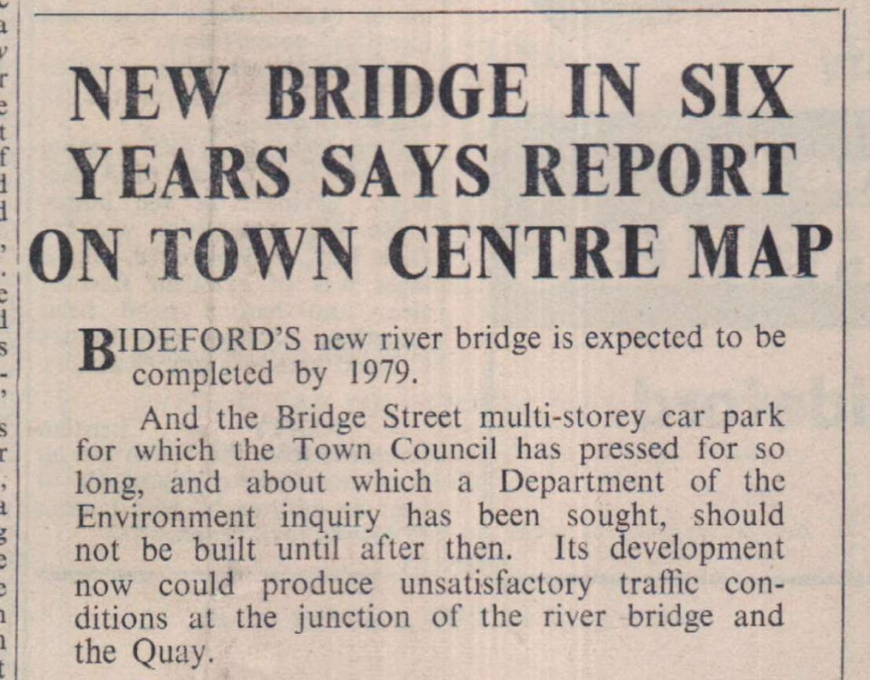 25.5.1973 new bridge Bideford1
