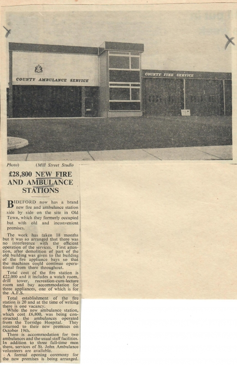 New Fire and Ambulance Stations 5 November 1965
