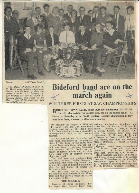 Bideford band are on the march again