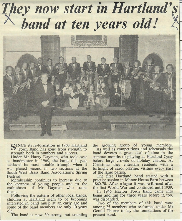 They now start in Hartlands band at 10 years old