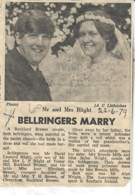 Bellringers marry