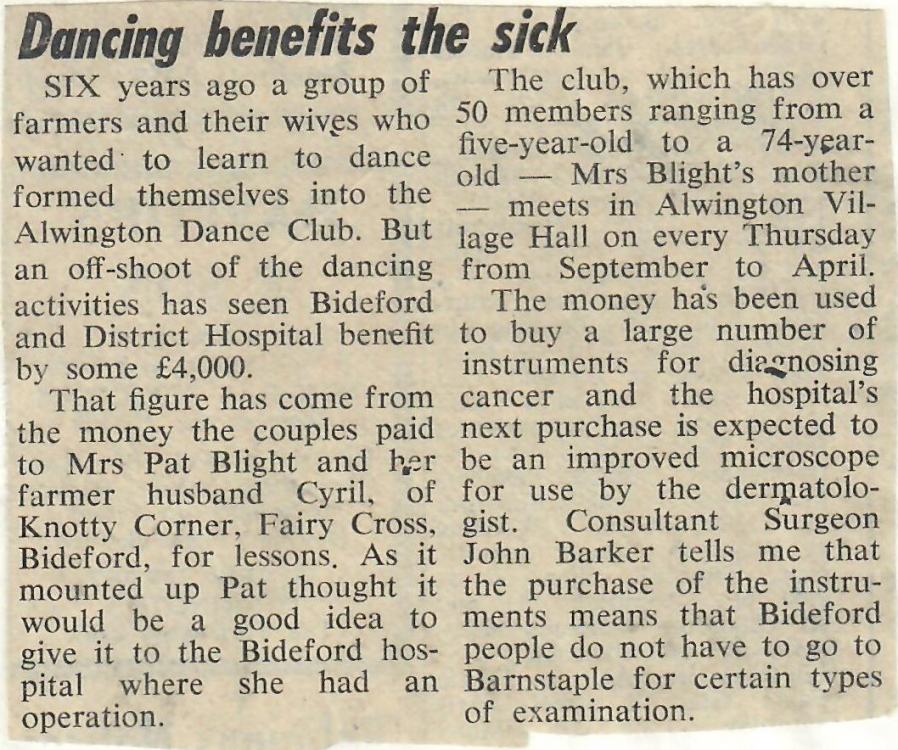 Dancing Benefits the Sick 19.6.1981