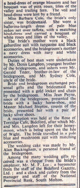 10.6.1955 Langdon Cole wedding2