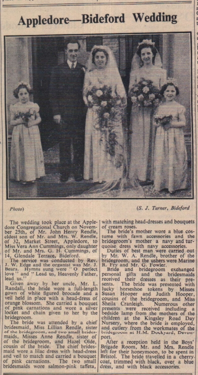 1950 Rendle Cummings wedding
