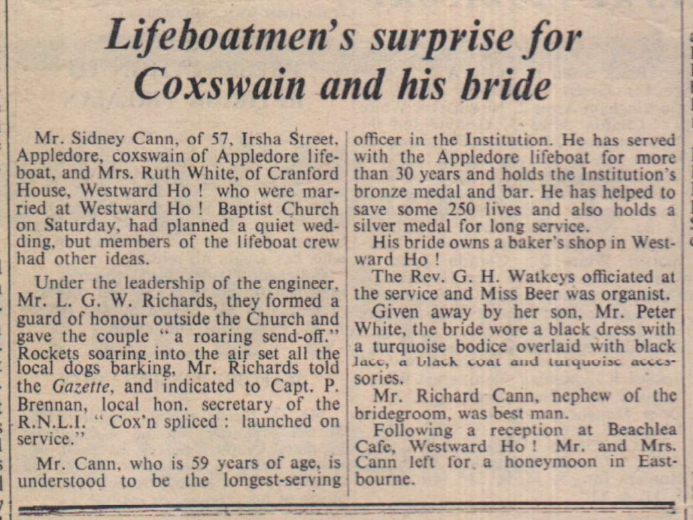 23.10.1959 Cann White wedding