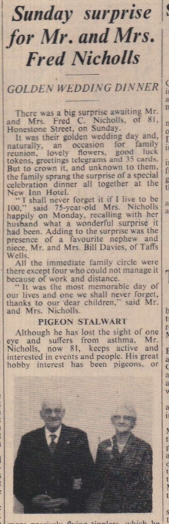 26.6.1964 Nicholls golden wedding Bideford