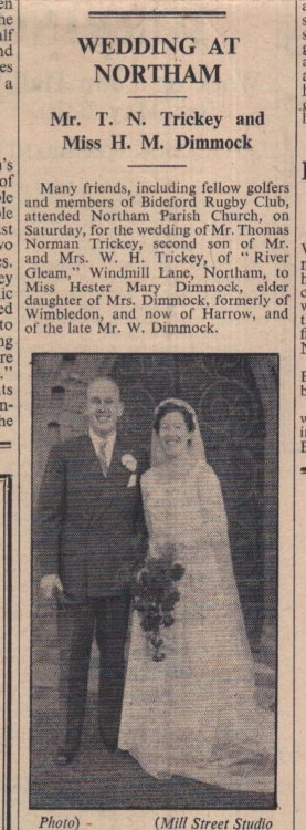 4.2.1955 Trickey Dimmock wedding1