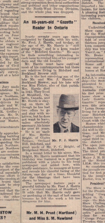 5.8.1947 Ontario reader Fred Harris