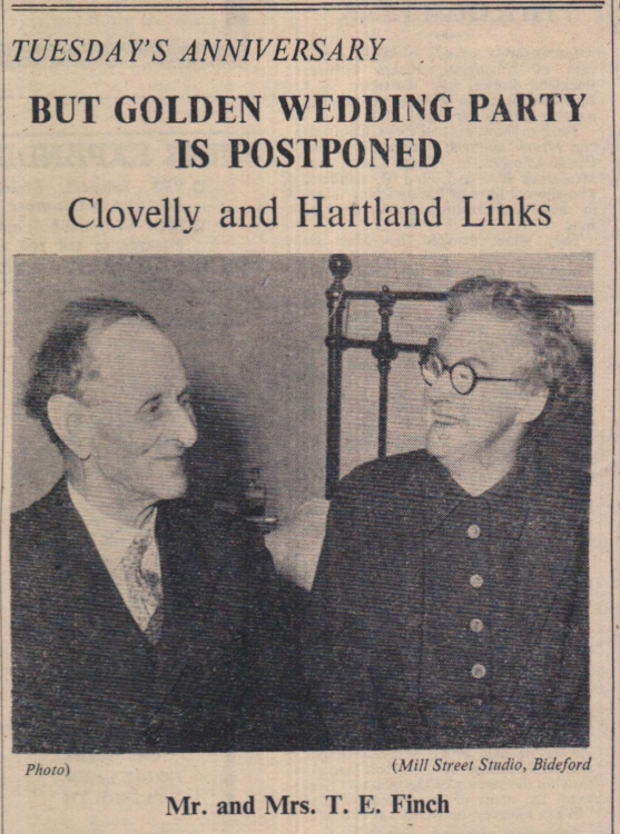 6.2.1959 Hartland Finch Golden Wedding