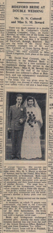 6.4.1951 Bideford double wedding
