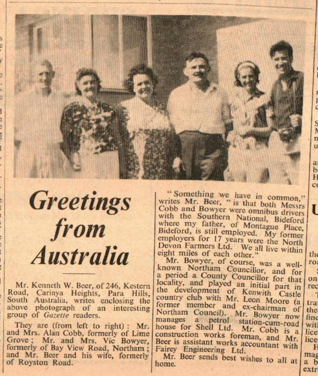 7.5.1965 greetings from Australia