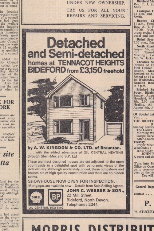 4.8.1967 Tennacot Heights buy a house