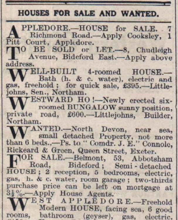 7.9.1937 Houses for sale