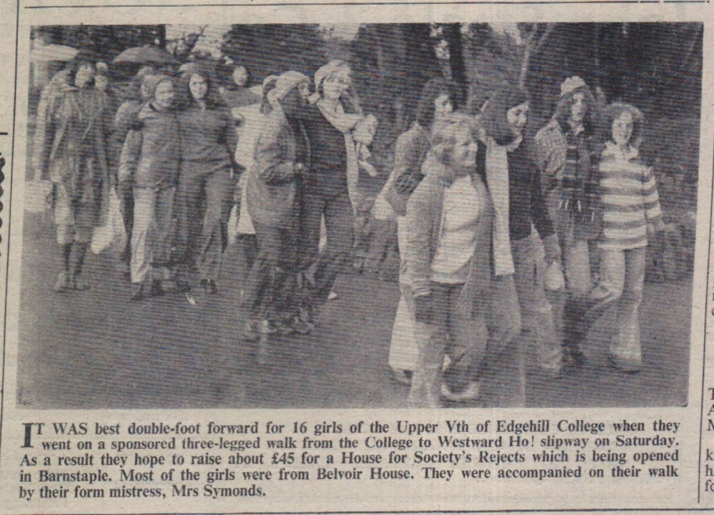 21.11.1975 Edgehill College sponsored walk