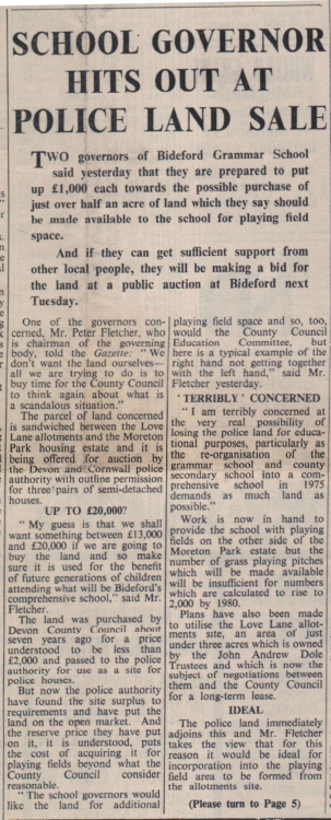 1972 BGS purchase of land