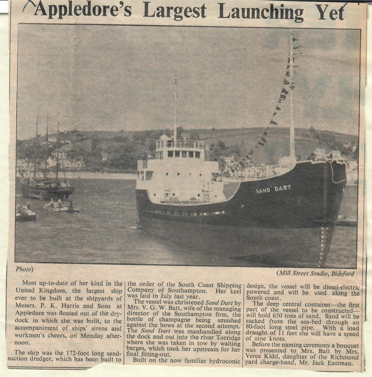 Appledores largest launching yet