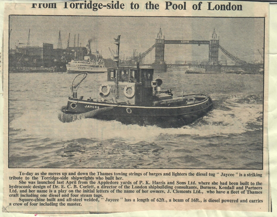 From Torridge side to the Pool of London