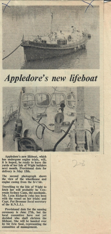 appledores new lifeboat