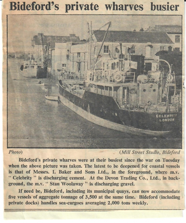 bidefords private wharves busier