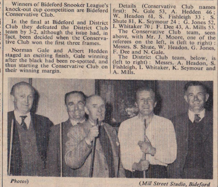 3 April 1959 Conservative snooker2