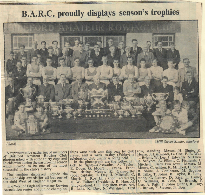 B.A.R.C. Proudly Displays Seasons Trophies 29.10.1954