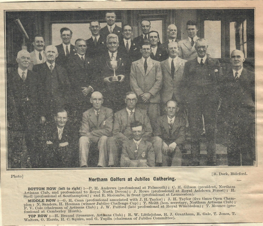 Northam Golfers at Jubilee Gathering 7.9.1938