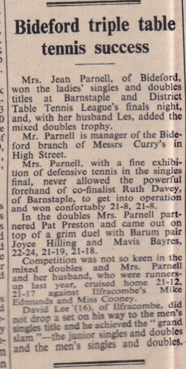 27 Feb 1970 table tennis